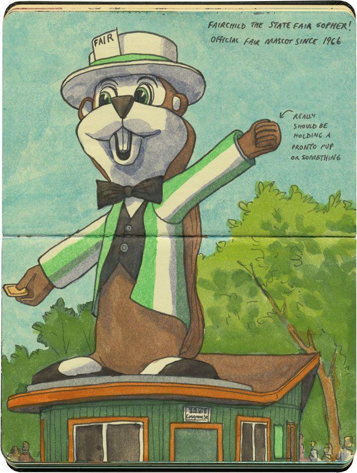 Fairchild the giant gopher! Minnesota State Fair, Falcon Heights, MN.