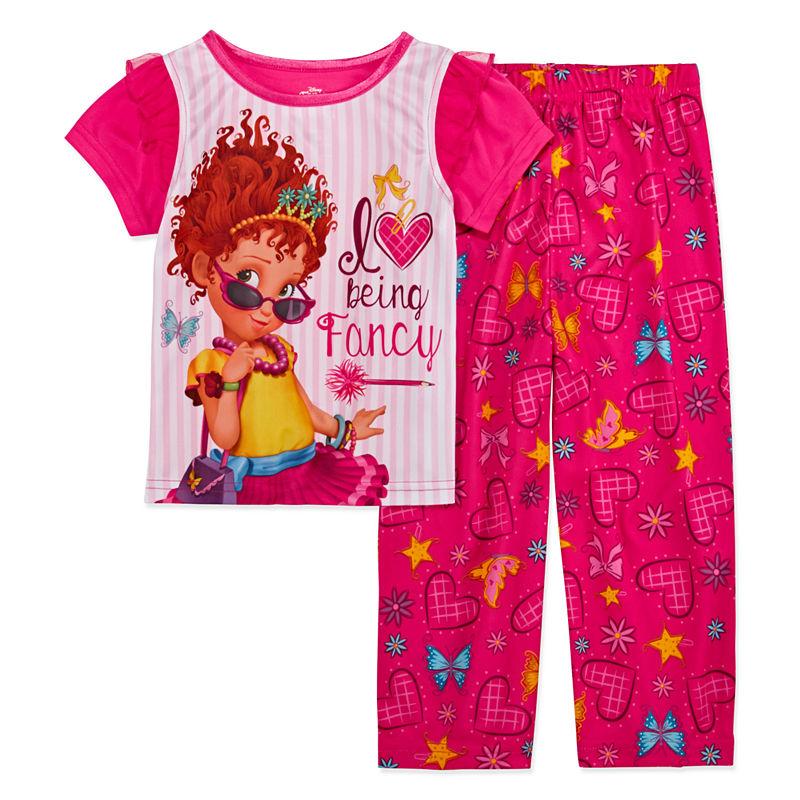 Disney Girls Fancy Nancy 2-Piece Pajama Coat Set Pajama Set