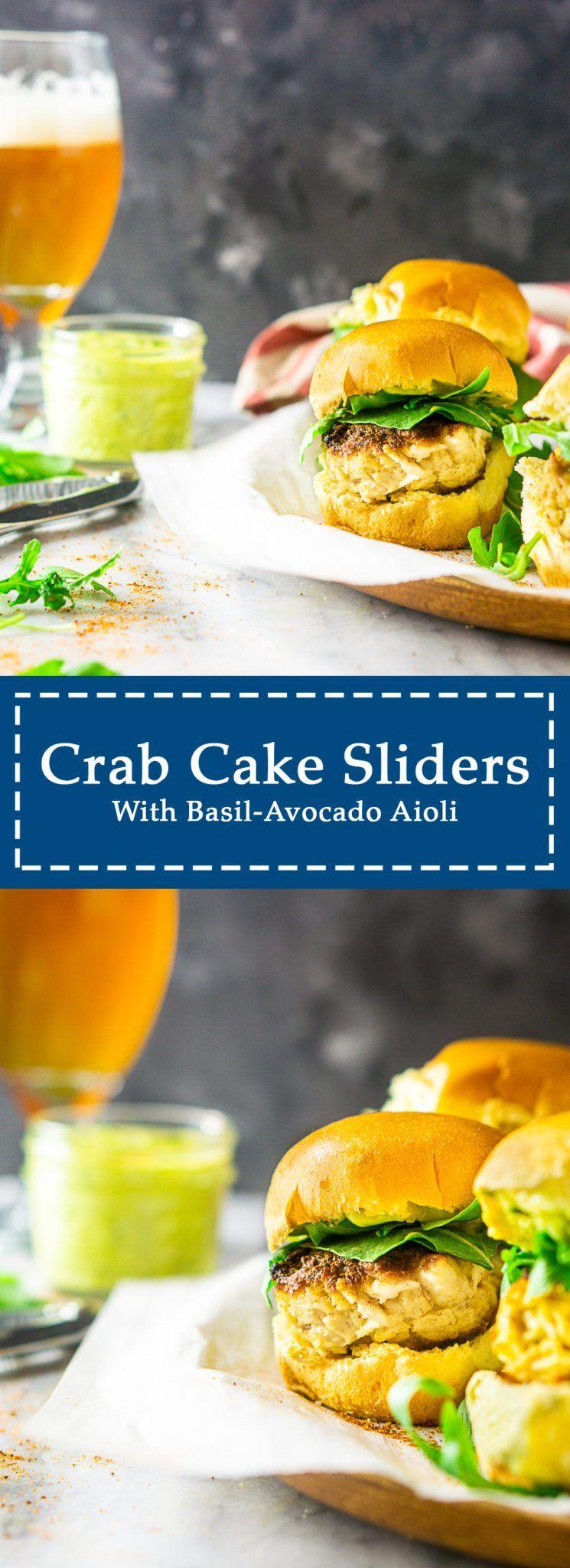 Crab cake sliders with basilavocado aioli recipe crab