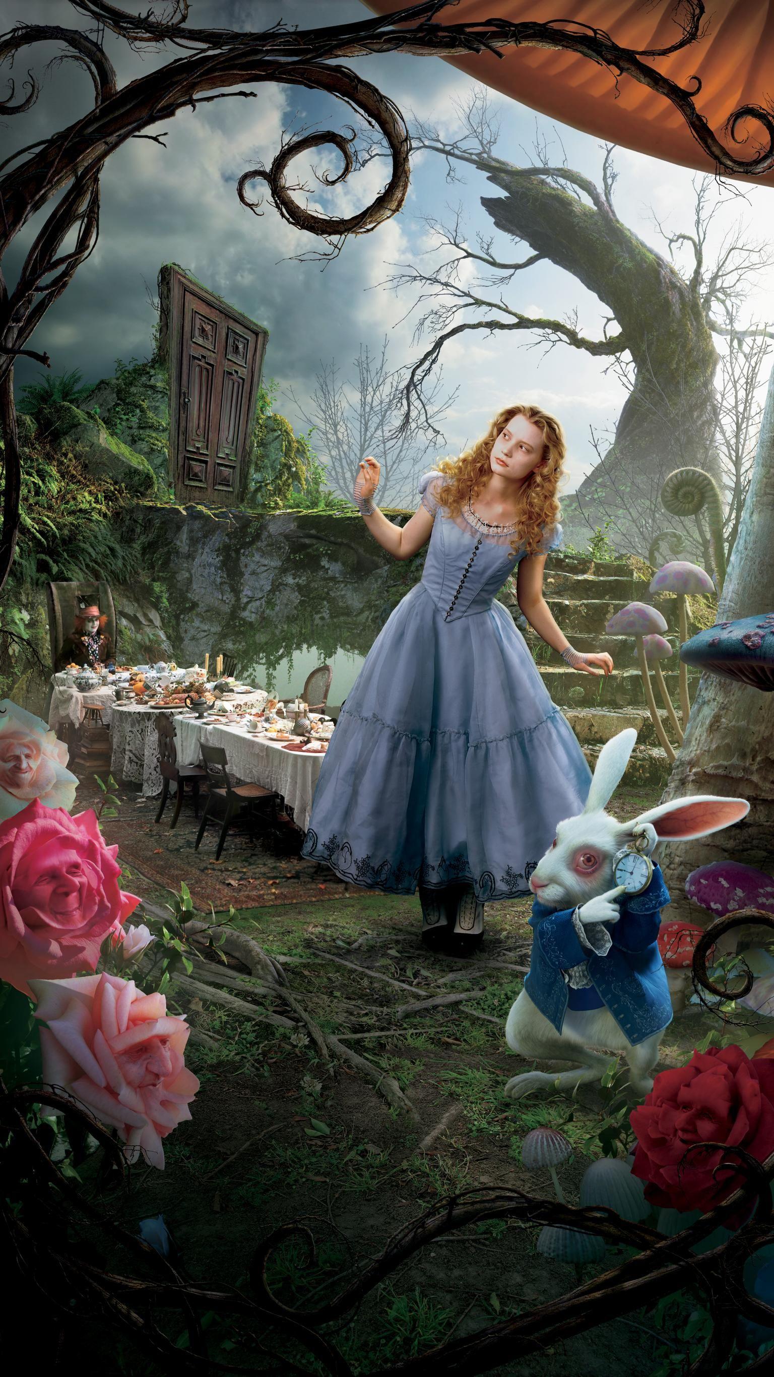 Alice In Wonderland 2010 Phone Wallpaper Com Imagens Filme
