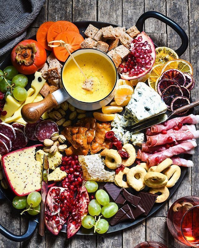 Winter Cheese Board with German Beer Cheese Fondue Winter Cheese Board with German Beer Cheese Fond