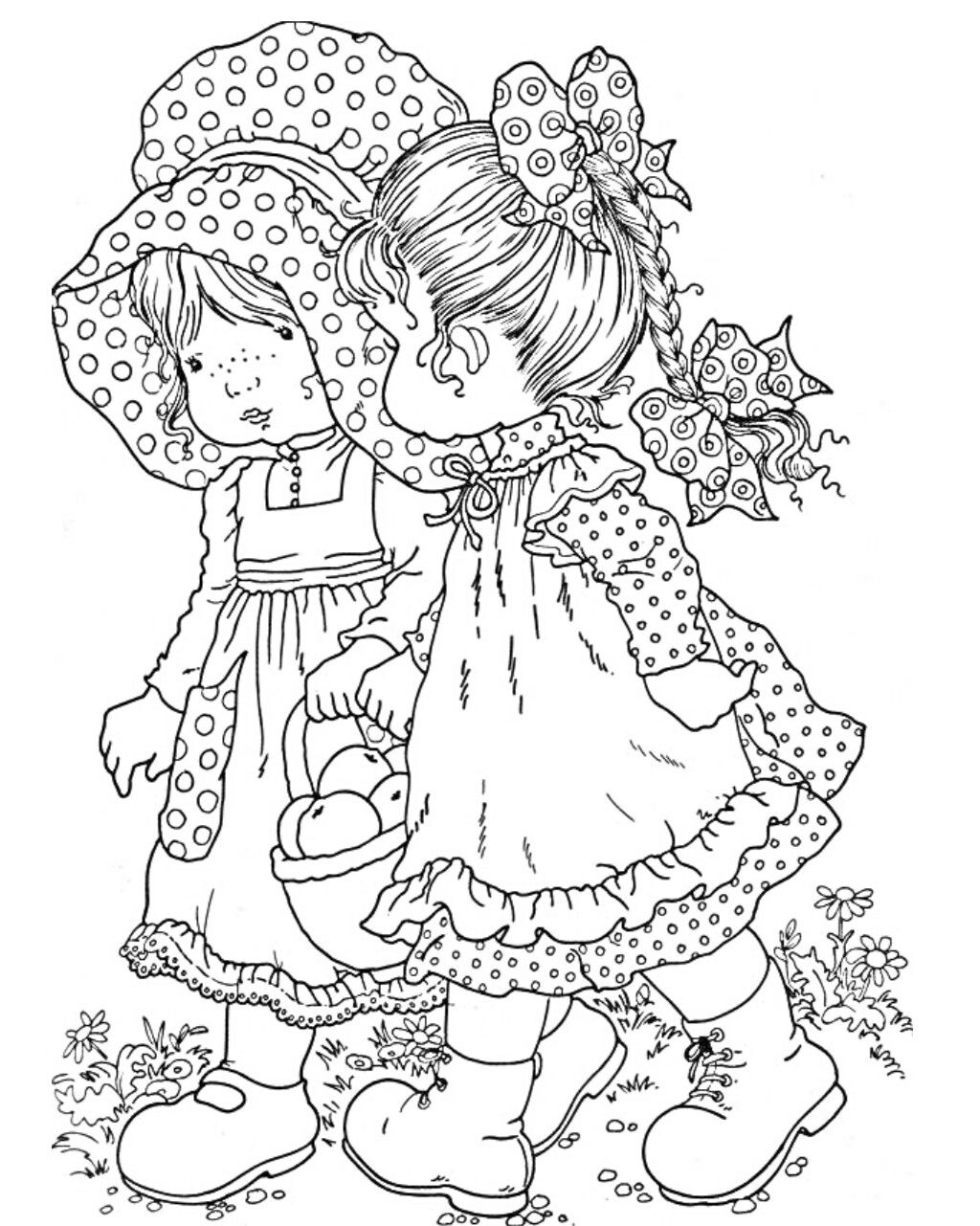 Pin By Connie Ochsner On Hollie Hobbie With Images Sarah Kay Coloring Pages Coloring Books