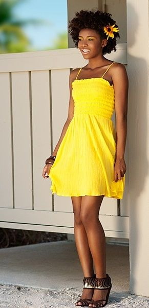 Image result for black girl wearing a sundress
