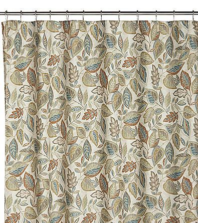 Excell Jacobean Leaf Spice Shower Curtain Bon Ton With Images