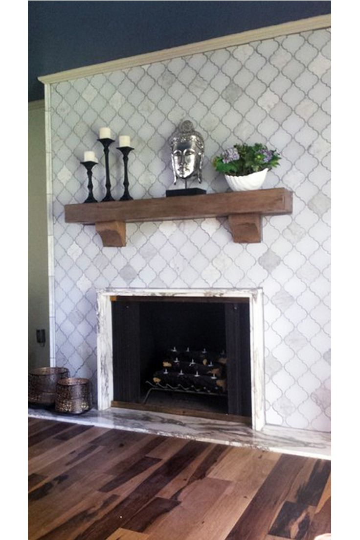 arabesque moroccan tile meets rustic design love the clover