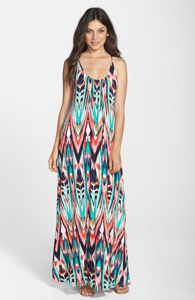 Print Jersey A-Line Maxi Dress (Nordstrom Exclusive) | Print ...