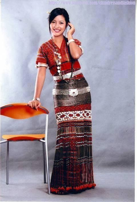 Chin Traditional Outfit Burmese Apparel Traditional