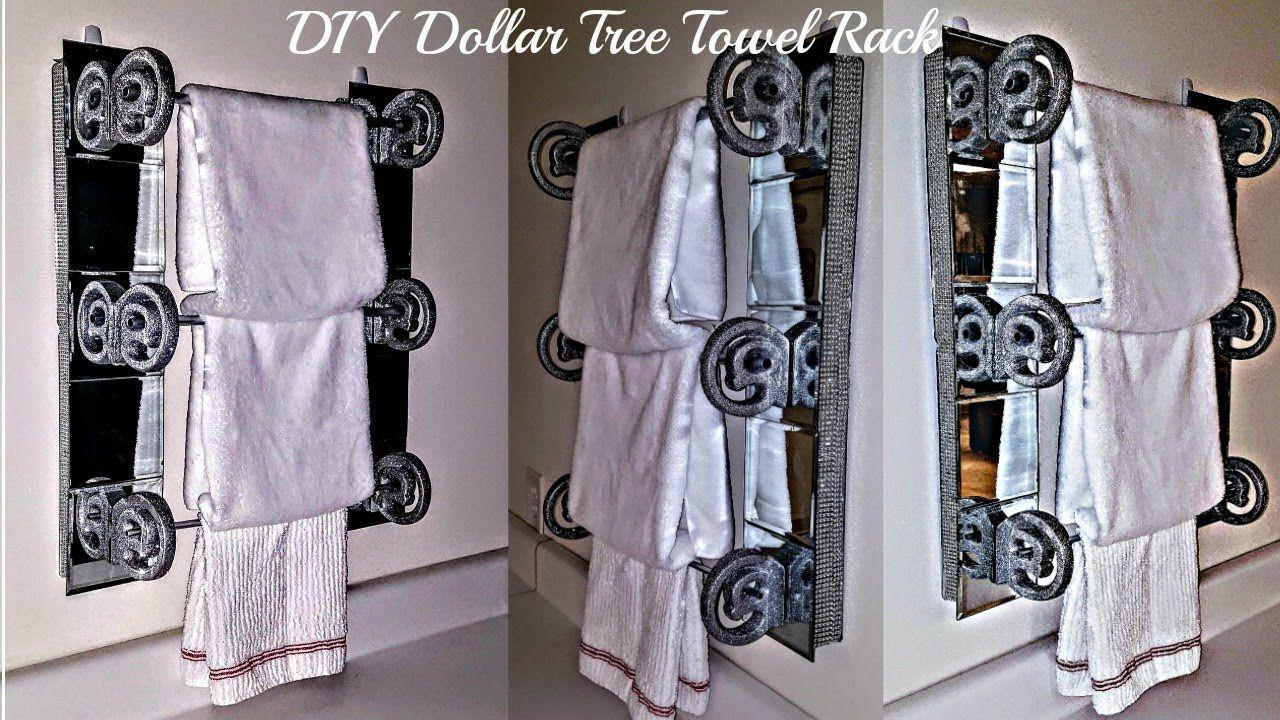 Diy Dollar Tree Home Decor Towel Rack Bathroom Or Kitchen Towel Rack Bathroom Towel Rack Dollar Tree Diy
