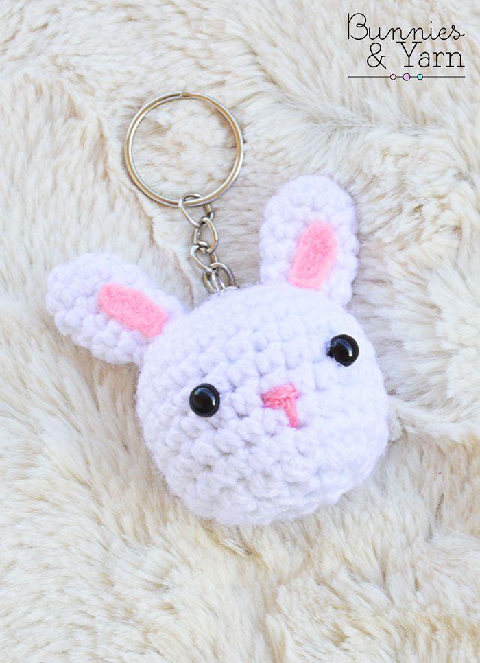 FREE Crochet Pattern - Rabbit Keychain | Tejido crochet patrones ...