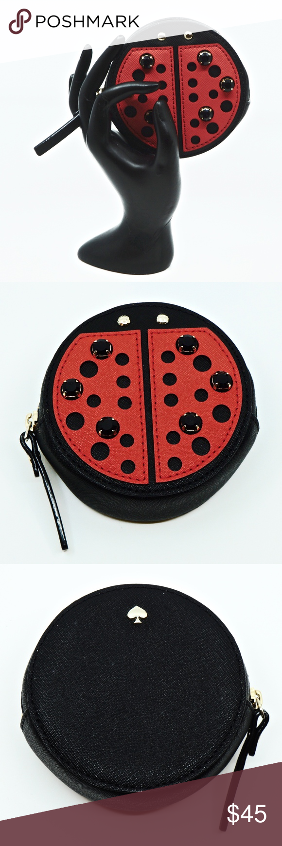 4511ba5712e7 KATE SPADE~turn over a new leaf~LADYBUG COIN PURSE This is a Kate ...