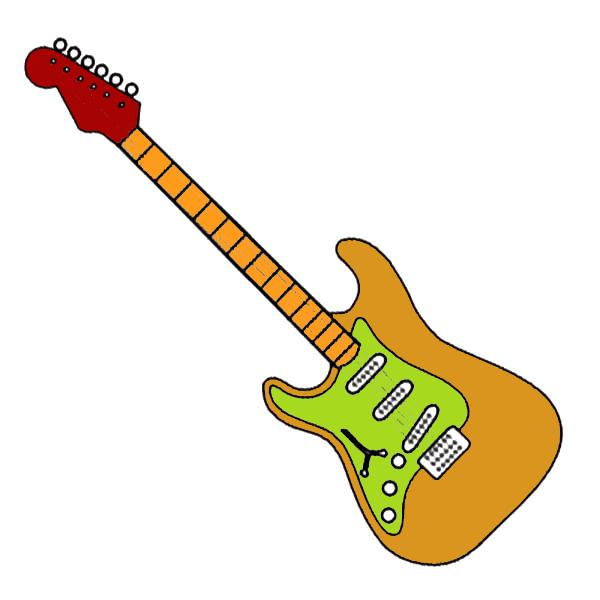 Aneka Gambar Mewarnai Gambar Mewarnai Gitar Untuk Anak Paud Dan Tk Kartun Gambar Orang Manusia Salju