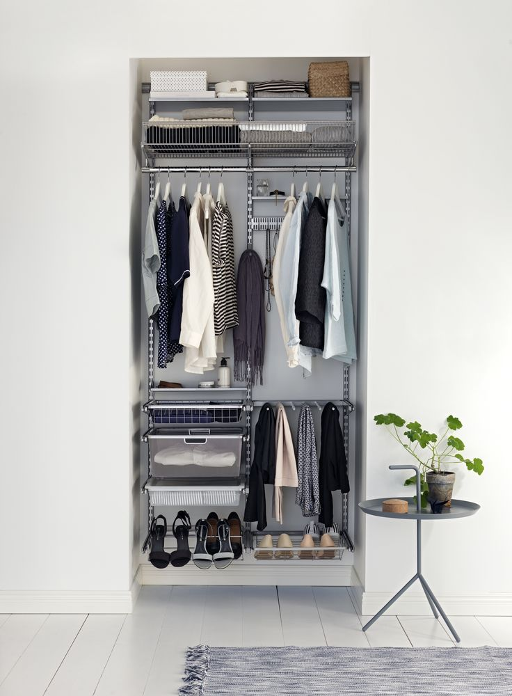 Make An Awkward Alcove Work Harder By Filling It With Wall Fixed Racks,  Rails