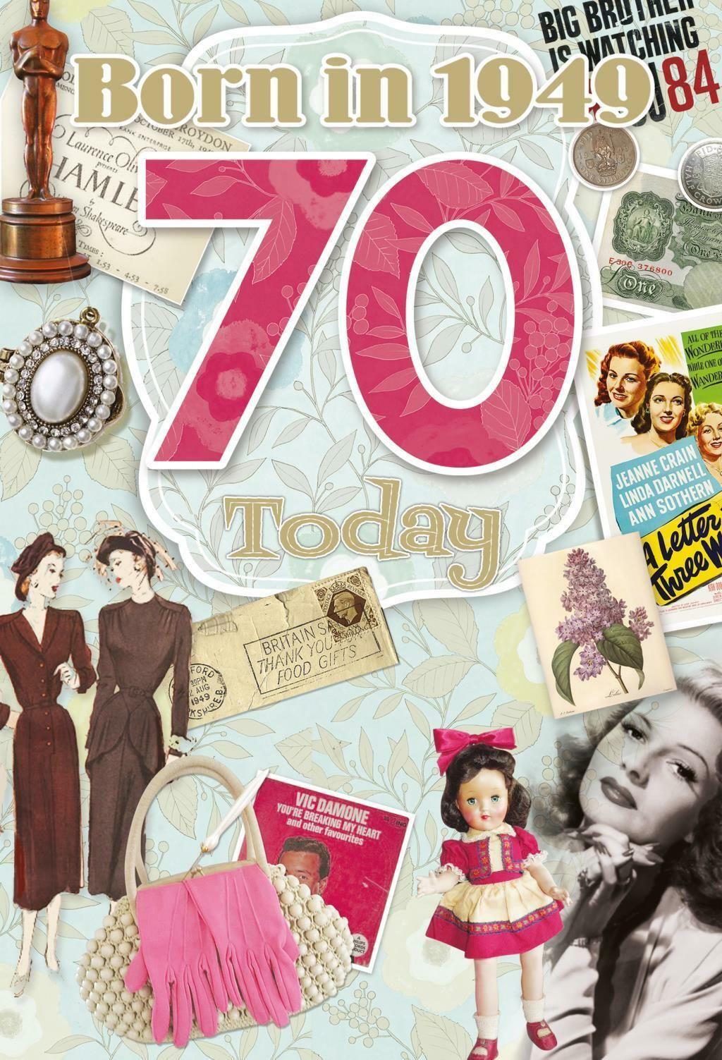 70th Birthday Card 1949 Year You Were Born Female Year