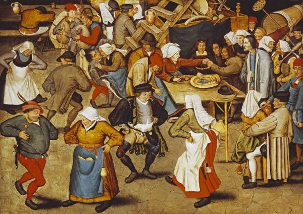 The Indoor Wedding Dance By Bruegel Elder Pieter