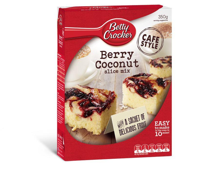 """""""cafe style"""" Berry Coconut Slice Mix  #BettyCrocker"""
