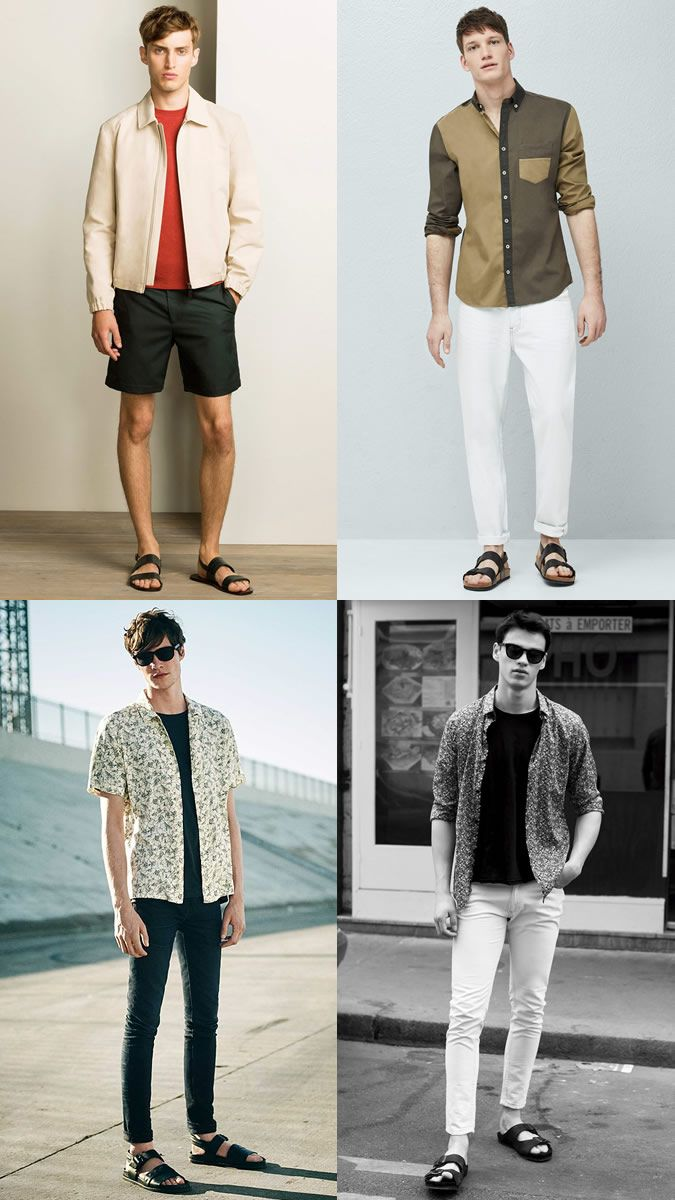 5 Key Men S Ss16 Footwear Trends Mens Fashion Summer Outfits Lookbook Men Leather Sandals Outfit