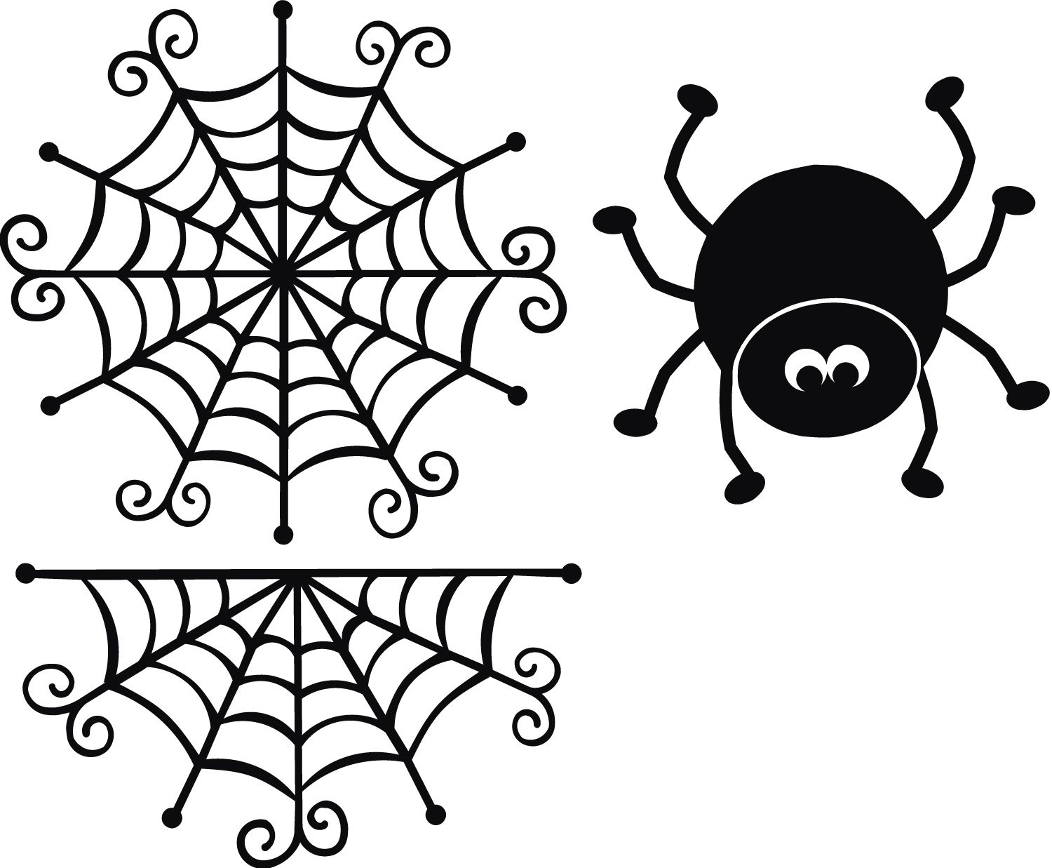 Spider Web And Spider Svg Cut File