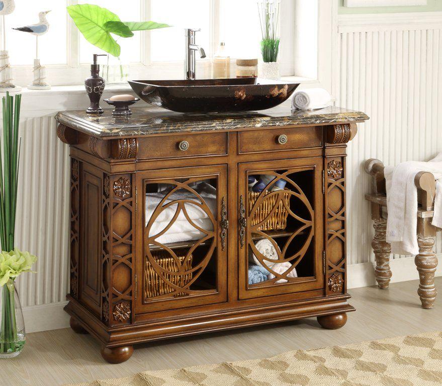 This Adelina 42 Inch Vessel Sink Bathroom Vanity Http Www Listvanities