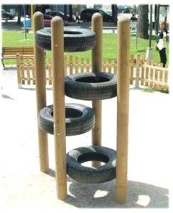 Tire Climber.  cute if you had a big enough back yard