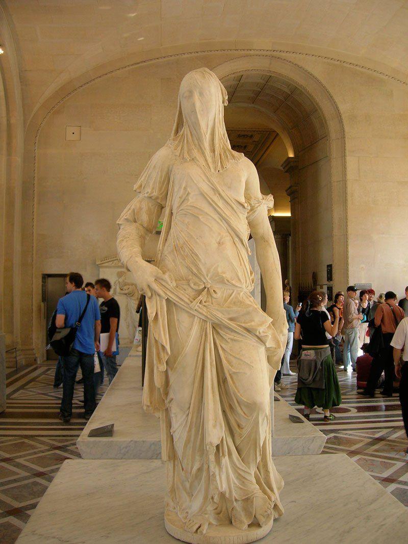 Femme Voil 233 E Mus 233 E Du Louvre Paris Antonio Corradini