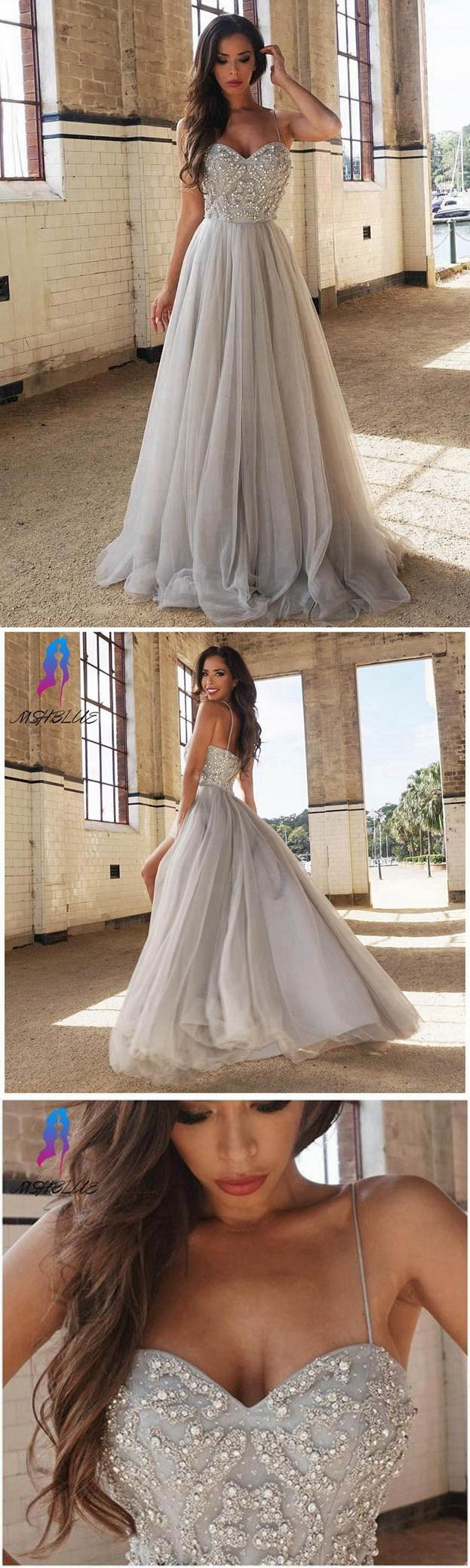 Silver prom dress prom dressesgraduation party dresses prom