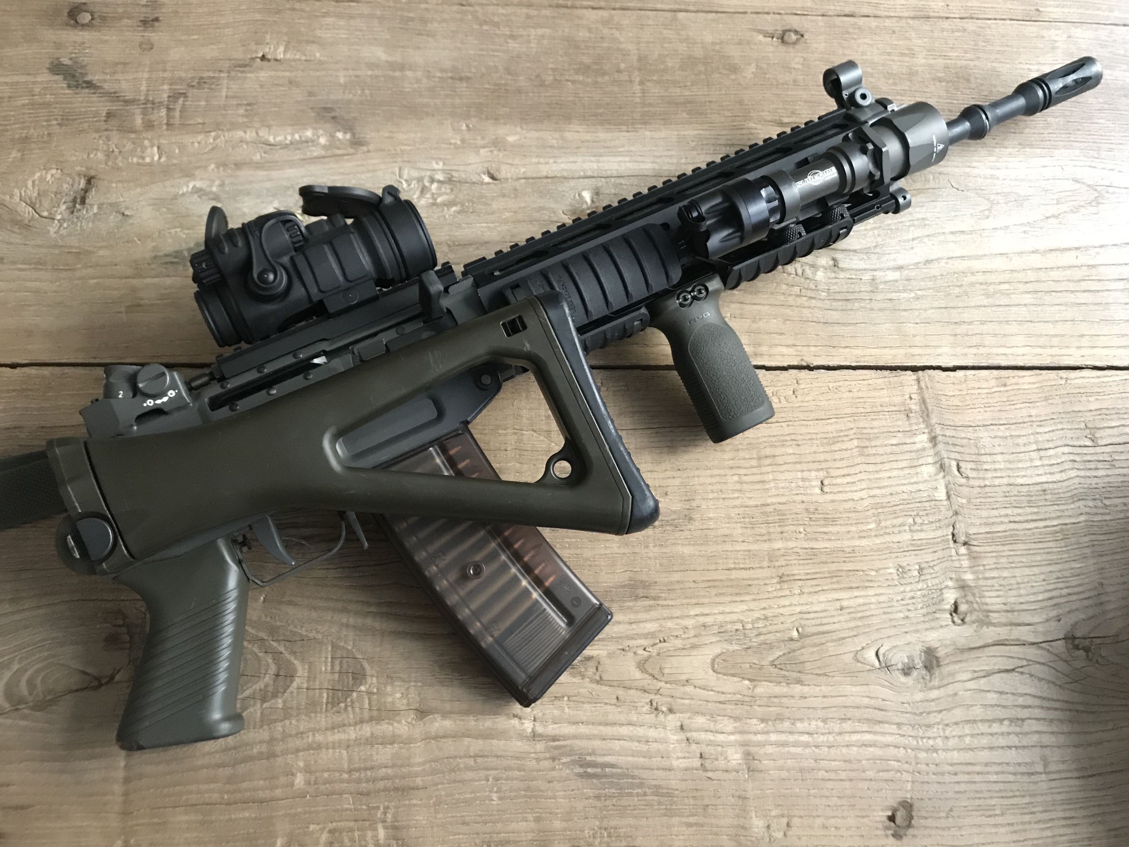 SIG 551LB w/ Aimpoint ML3, Magpul MOE RVG and SureFire M951