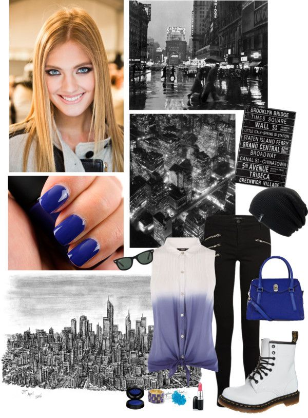 """On the city streets"" by graceegrace ❤ liked on Polyvore"