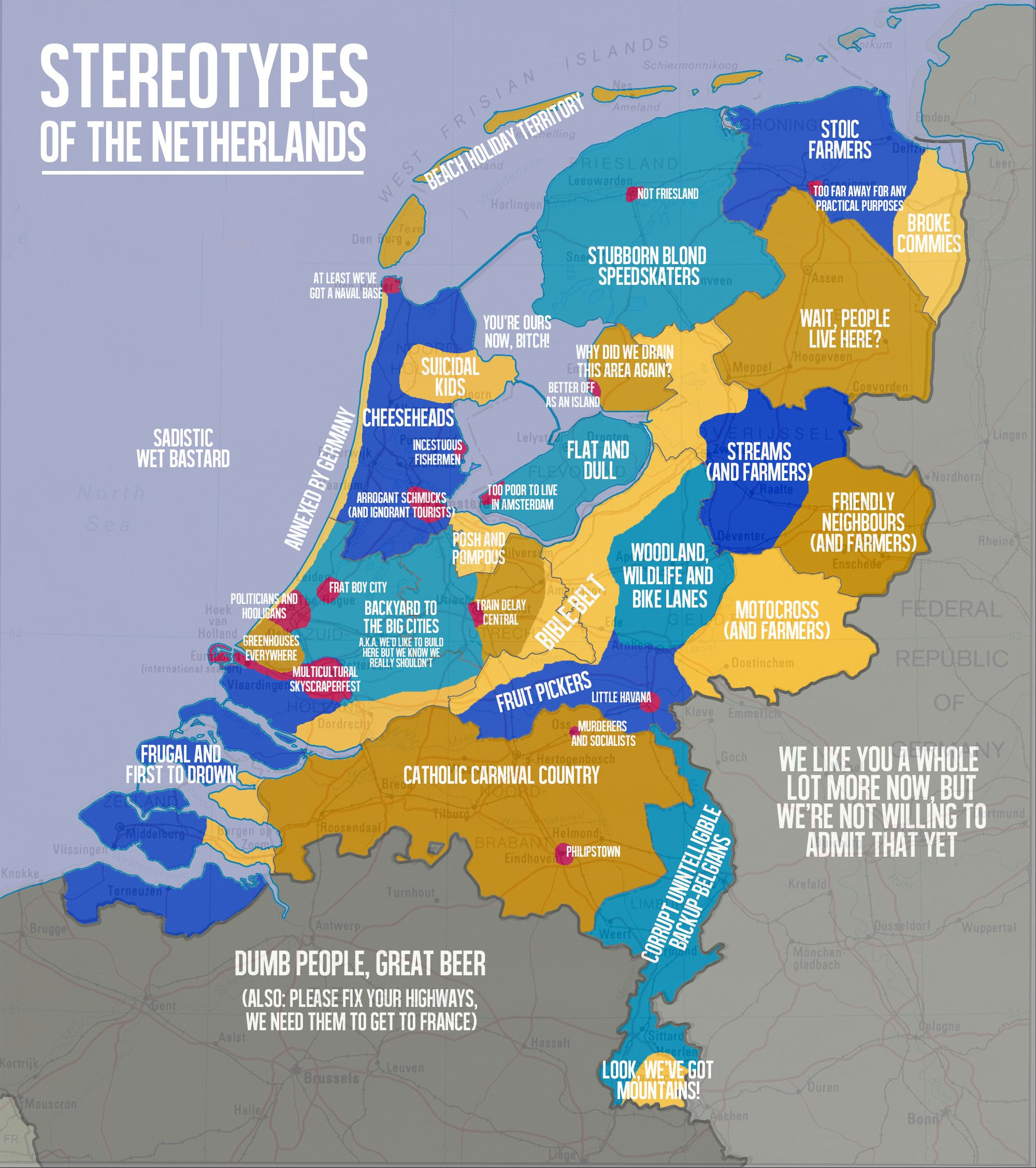 Stereotypes of the Netherlands Blondes Geography and Netherlands