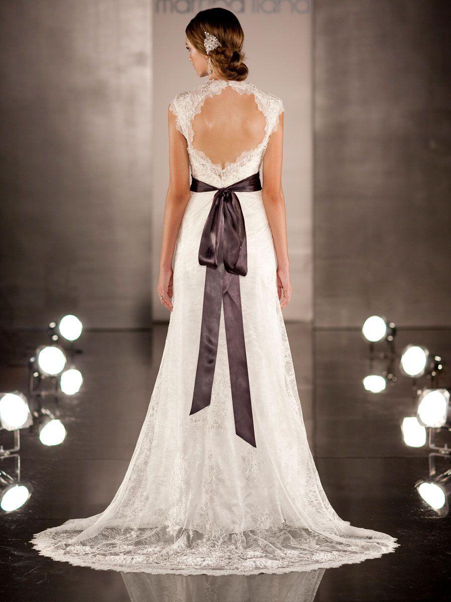 No Back Wedding Dresses | 10 Keyhole Lace Open Back Wedding Dresses ...