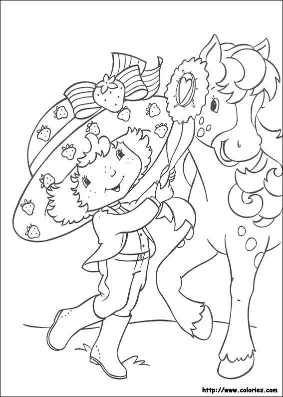 Coloriage charlotte aux fraises colorier dessin imprimer coloring page pinterest - Dessin charlotte aux fraises ...