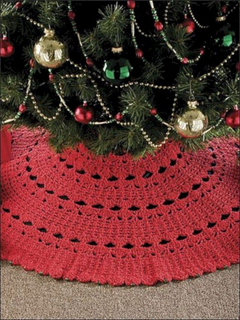 57 Awesome Crochet Christmas Tree Skirt Free Patterns Tapete