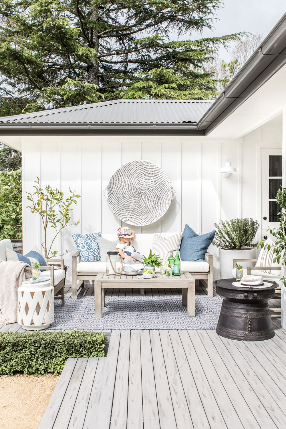 Our Outdoor Makeover With Pottery Barn Cottonwood Co Pottery
