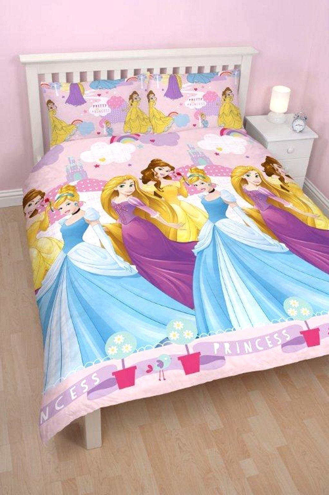 Disney Princess Enchanting Double Duvet Quilt Cover Reversible Bedding Set Double Duvet Covers Double Duvet Duvet Covers