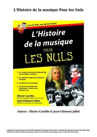 L'histoire De France Pour Les Nuls Pdf : l'histoire, france, Livre, Gratuit, L'histoire, Musique, (pdf,, Epub,, Mobi), Olivier, Carrillo, Books,, Movie, Posters,, Ebooks