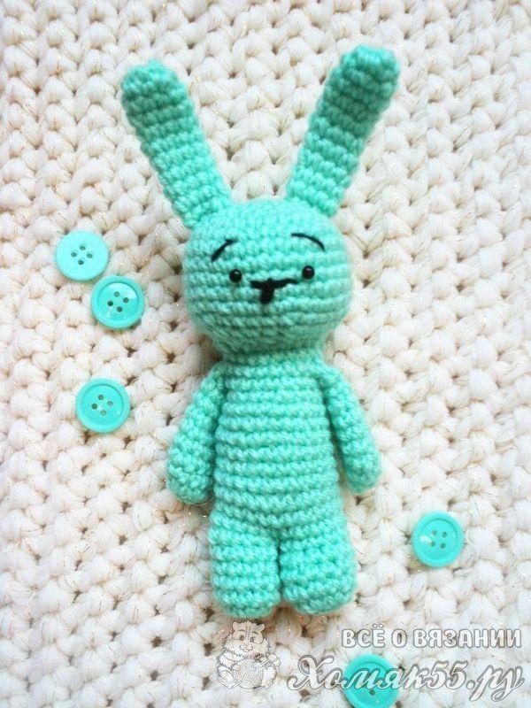 Вязаный заяц крючком схема и описание | игрушки