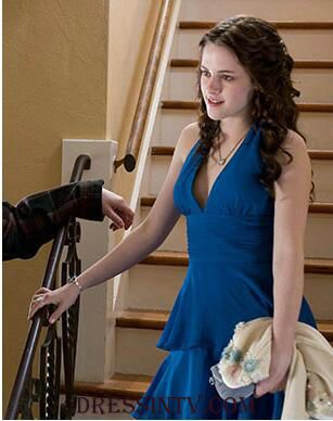 6ce9e0c716 Chiffon Royal Blue Twilight Bella Short Prom Dress