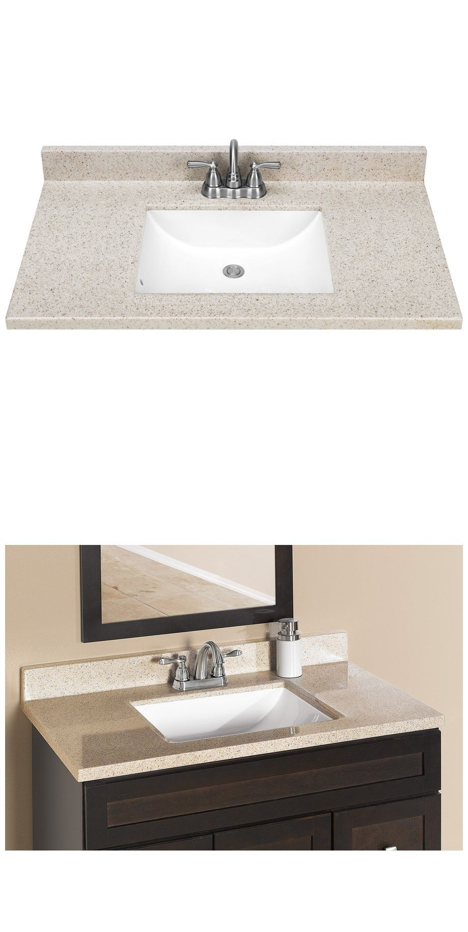 Dune Solid Surface Vanity Top Is Durable White Integral