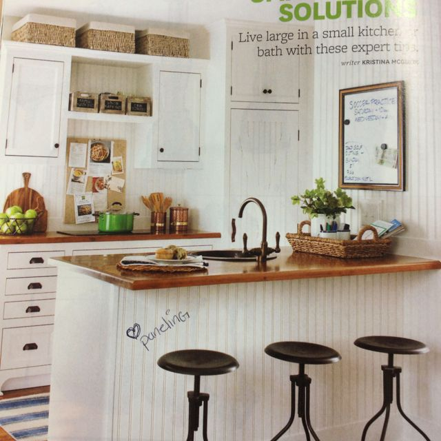 Decorating Above Kitchen Cabinet Design: Small Kitchen...beadboard