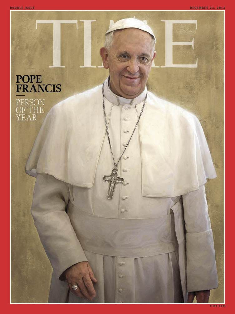 Pope Francis is Time's Person of the Year 2013. There's no question why. He has been leading by example and capturing our attention in the most positive way.  All Catholics be celebrating, you know it.