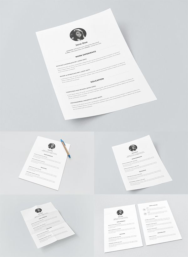 20 New Free Mock-ups By Alienvalley Mockup - ups resume