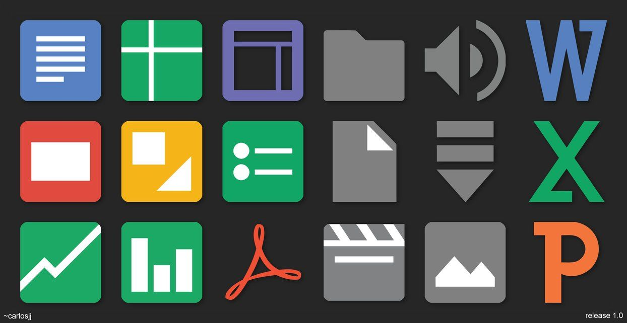 Google Docs Icons 512px Vector By Carlosjj General Icon Design