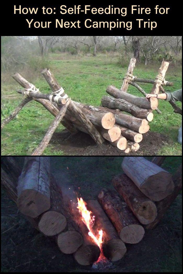 How to build a self-feeding campfire | Chickens backyard ...