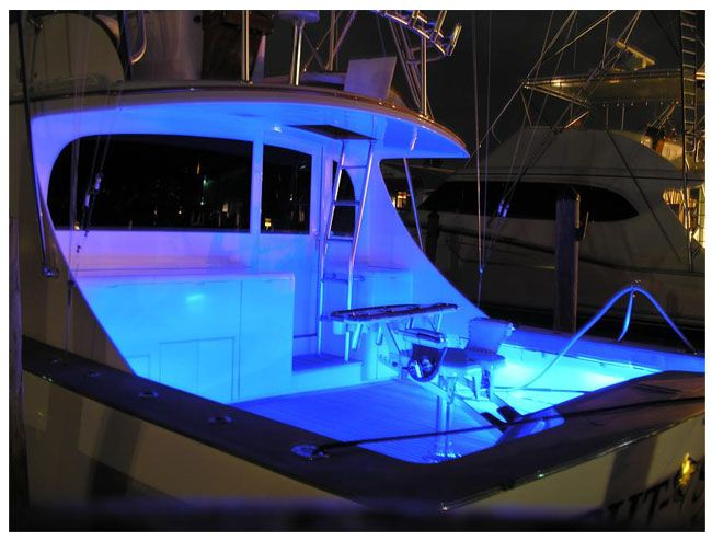 LED strip lighting example for boat and marine use.