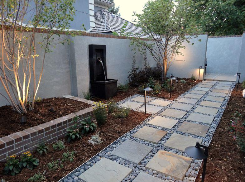 Xeriscape Yard Walkway Modern Landscaping Modern Backyard Modern Backyard Design