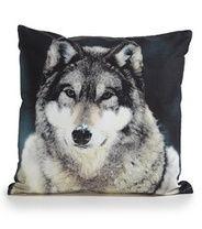Koodi Eläin-tyynynpäällinen, Susi, valko-harmaa