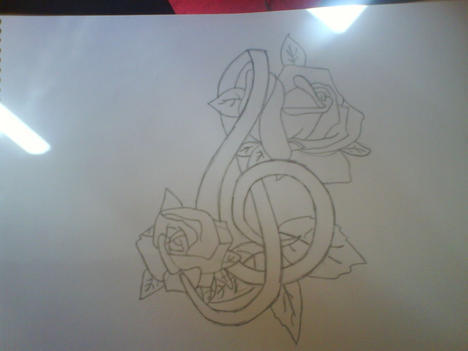 Musical tattoos music symbol and roses tattoo by plaistowkidd on a drawing of a musical symbol with roses music symbol and roses tattoo buycottarizona Gallery