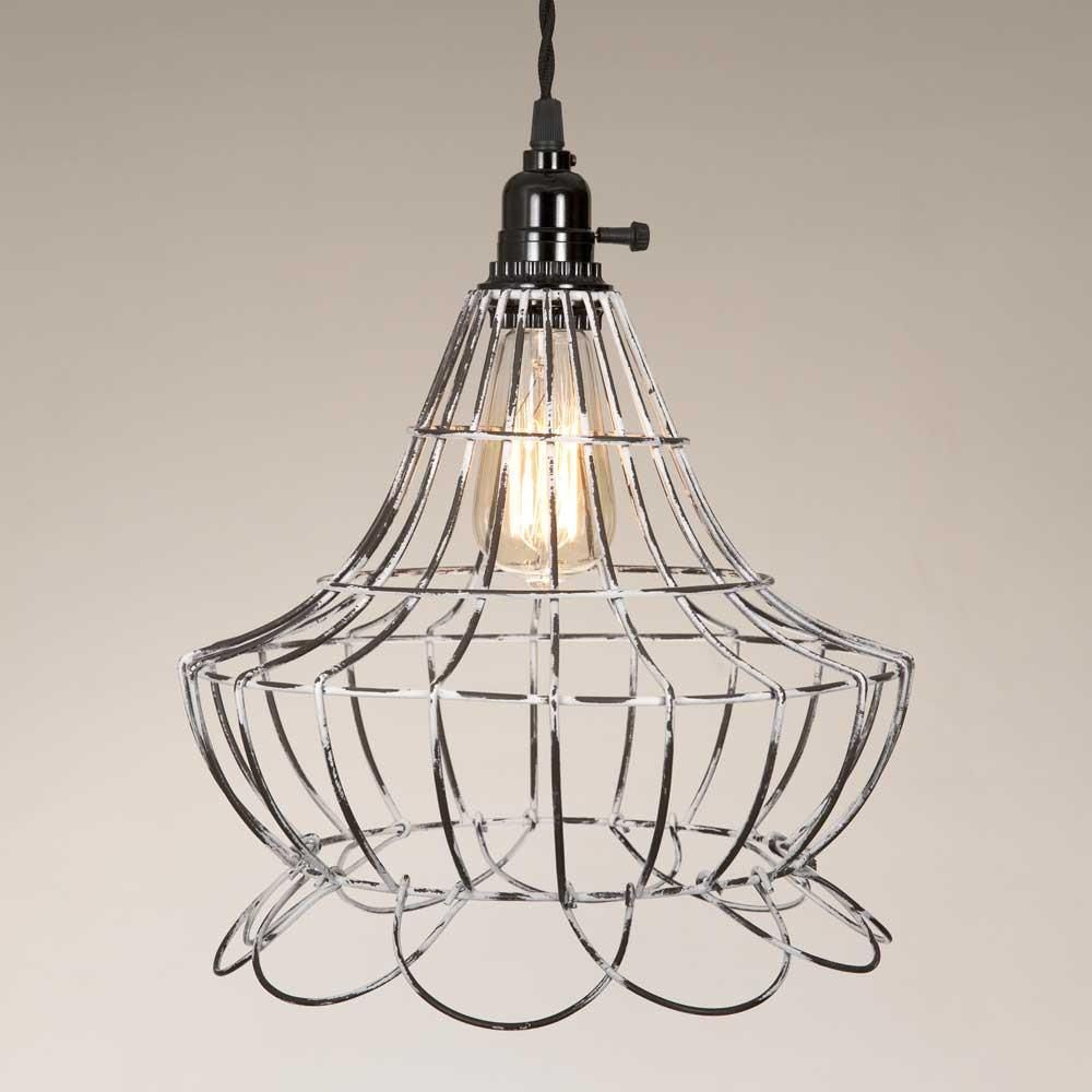 Wire scallop bell pendant lamp pendants and products
