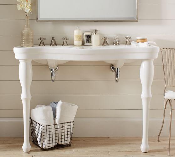 Parisian Pedestal Double Sink Console | Pottery Barn