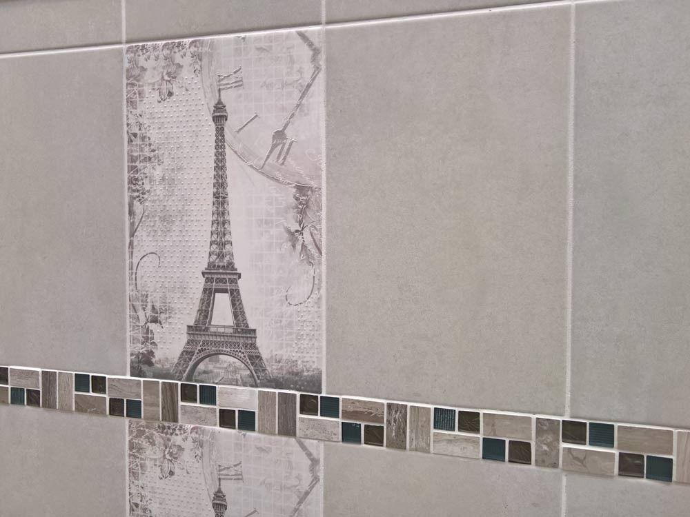 Moma grey 400 x 250 mm matt finish ceramic wall tile ctm for Ctm bathroom designs