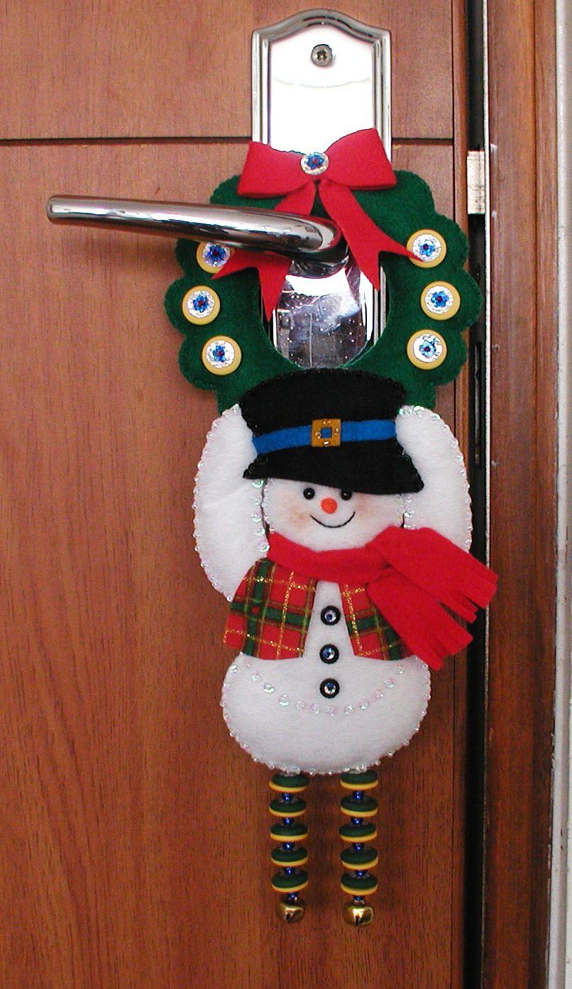 Adorno para chapa puerta bordados oma navidad - Adornos navidenos puertas ...